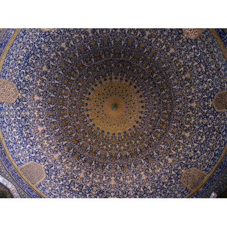 Dome Ceiling of Sheikh Lotfollah Mosque, Esfahan, Iran Print Wall Art By Patrick Syder