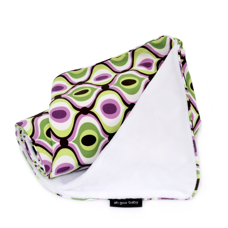 """Ah Goo Baby Stroller Blanket, 2 Layer Water Resistant 41""""x30"""", Spa Pattern"""