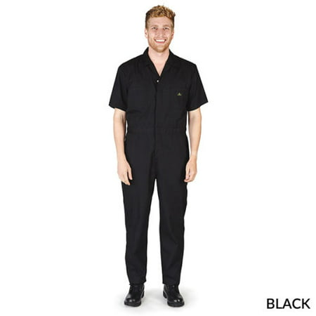 MENS SHORT SLEEVE ZIPPERED COVERALLS ()