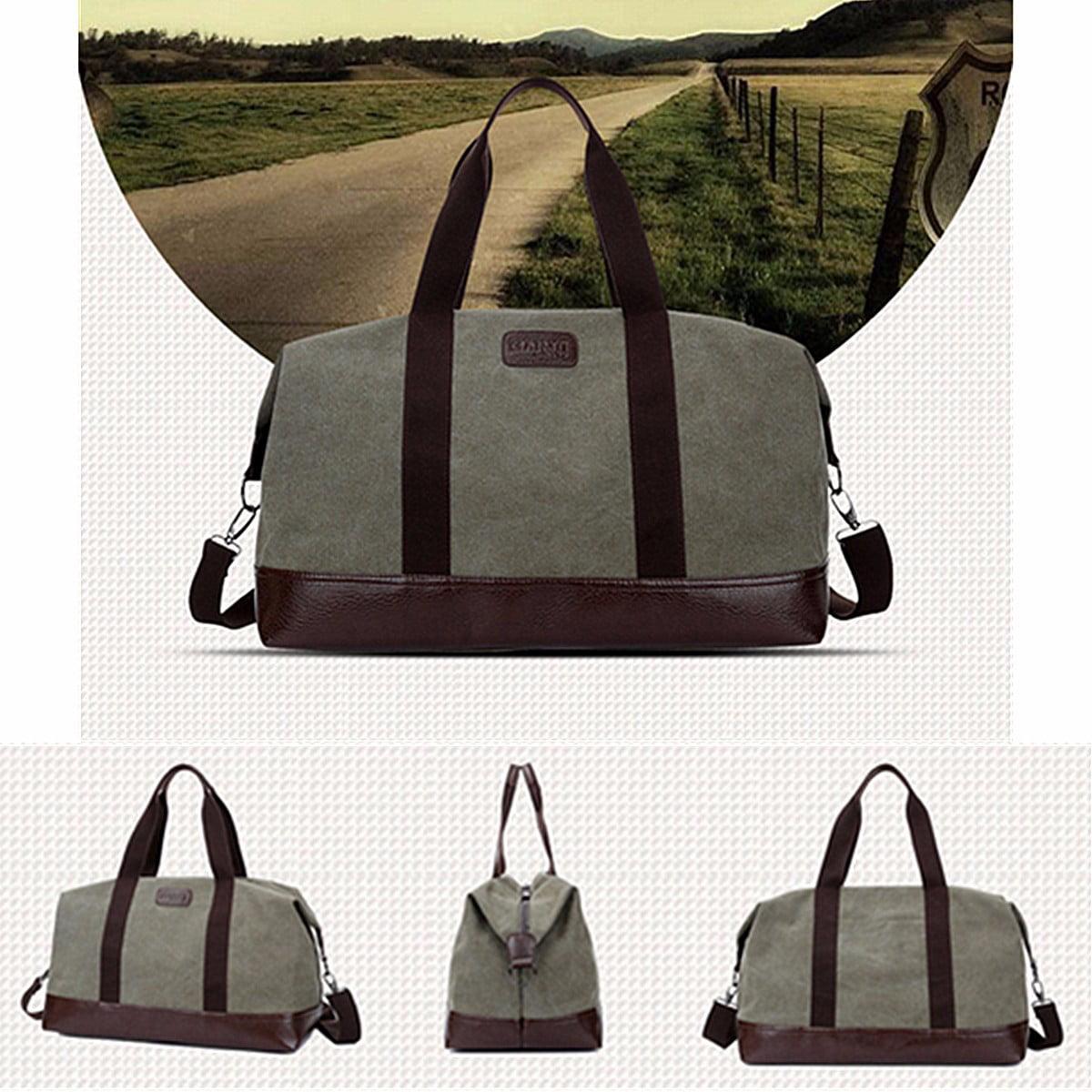 Vintage Men Canvas Large Handbag Gym Travel Sports Waterproof Shoulder Luggage Bag by