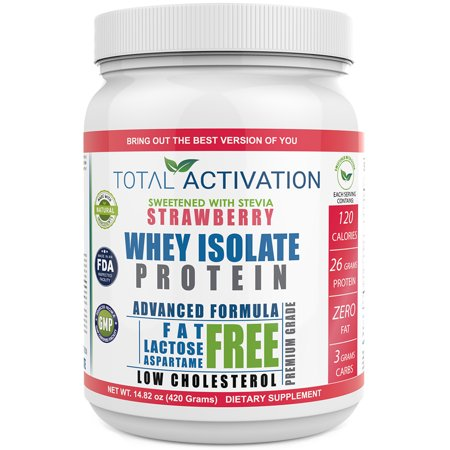 Total Activation Whey Protein Isolate Strawberry 26g Protein 14 82 Oz