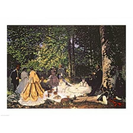 Le Dejeuner sur lHerbe 1866 Poster Print by Claude Monet (8 x 10)