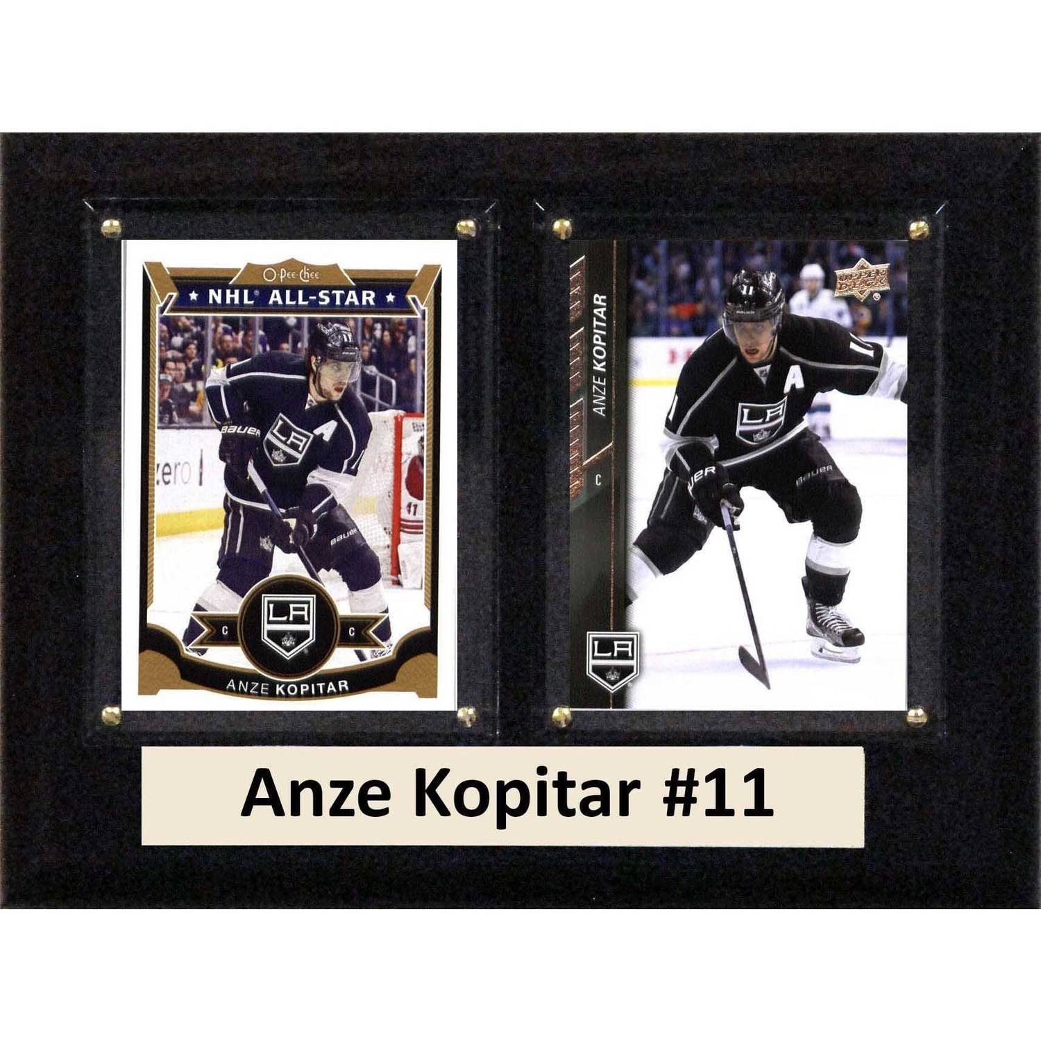 "C & I Collectables NHL 6"" x 8"" Anze Kopitar Los Angeles Kings Two-Card Plaque"