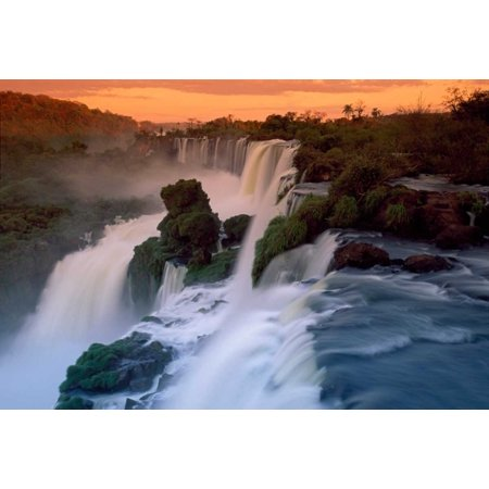 - Cascades of the Iguacu Falls the worlds largest waterfalls Iguacu National Park Argentina Poster Print by Thomas Marent