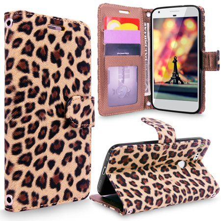 Google Pixel Case, Cellularvilla [Slim Fit] [Card Slot] Premium Leather Wallet Case [Drop Protection] With Wristlet Book Style Flip Protective [Stand] Cover For Google Pixel Pink Leather Wristlet
