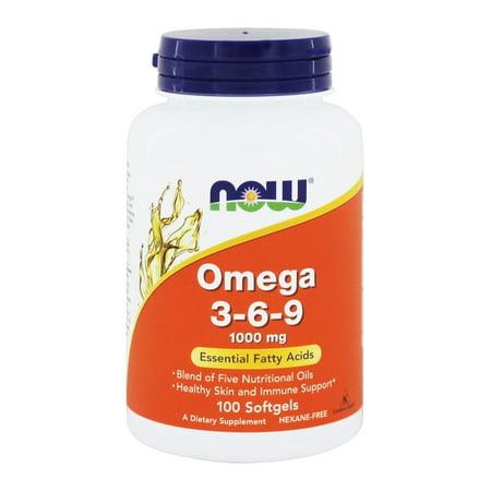Now Supplements Omega-3-6-9 Softgels, 1000 Mg, 100