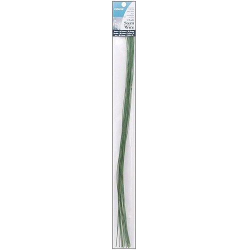 """Cloth Covered Stem Wire, 26 Gauge, 18"""", 20pk"""