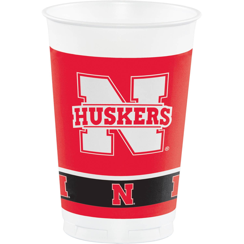 University of Nebraska Plastic Cups, 8pk