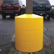 POLETECTOR LGSY3S4 Light Base Cover, 4in, 31inH, Yellow, Sqre