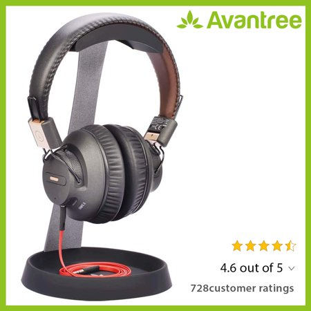 Avantree Aluminum Headphone Stand Headset Hanger with Cable Holder for Sennheiser, Sony, Audio-Technica, Bose, Beats, AKG, Gaming Headset Display - HS102 ()