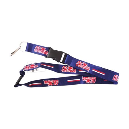 NCAA OLE Miss Running Rebels Clip Lanyard Keychain Id Ticket Holder - Blue - image 1 de 1