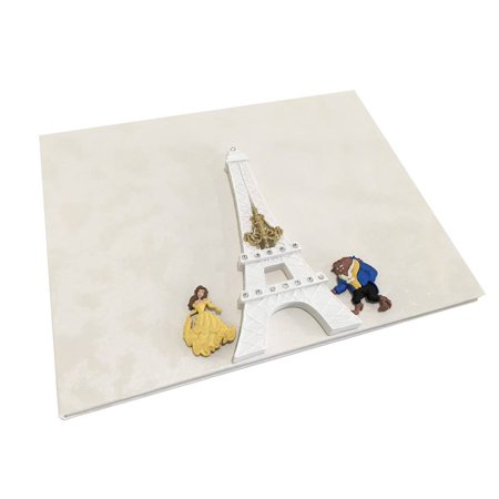 Beauty and The Beast Classic Paris Eiffel Tower Birthday Guest Book Keepsake - Beauty And The Beast Be Our Guest