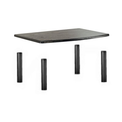 PLATEAU SE-AA1 BB Wood and Metal Audio Stand – 1 Shelf – Black Oak Finish