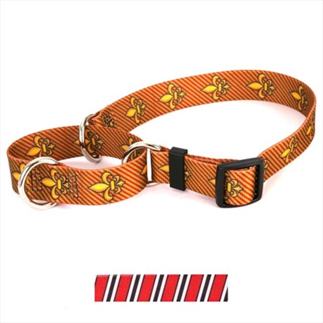 Yellow Dog Design M-TSRBW100XS Team Spirit Red  Black and White Martingale Collar - Extra Small