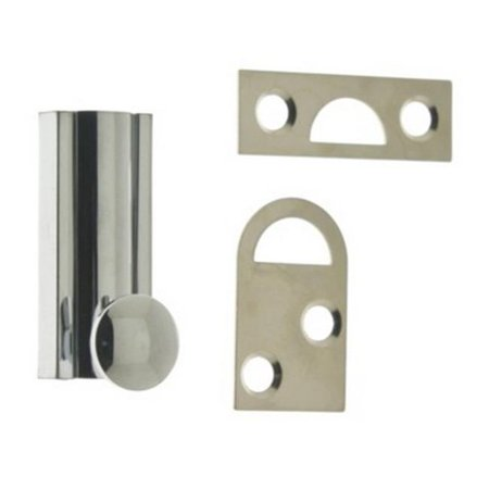 idh by st. simons 11042-026 solid brass surface bolt, polished chrome - 2 in.