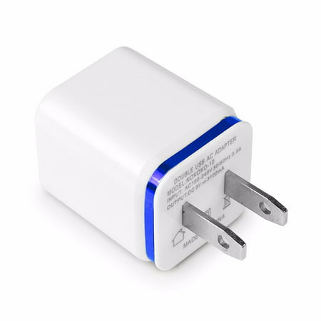 Replacement USB Wall Charger Adapter 1A 2A 5V Dual USB Port Charger Plug Cube