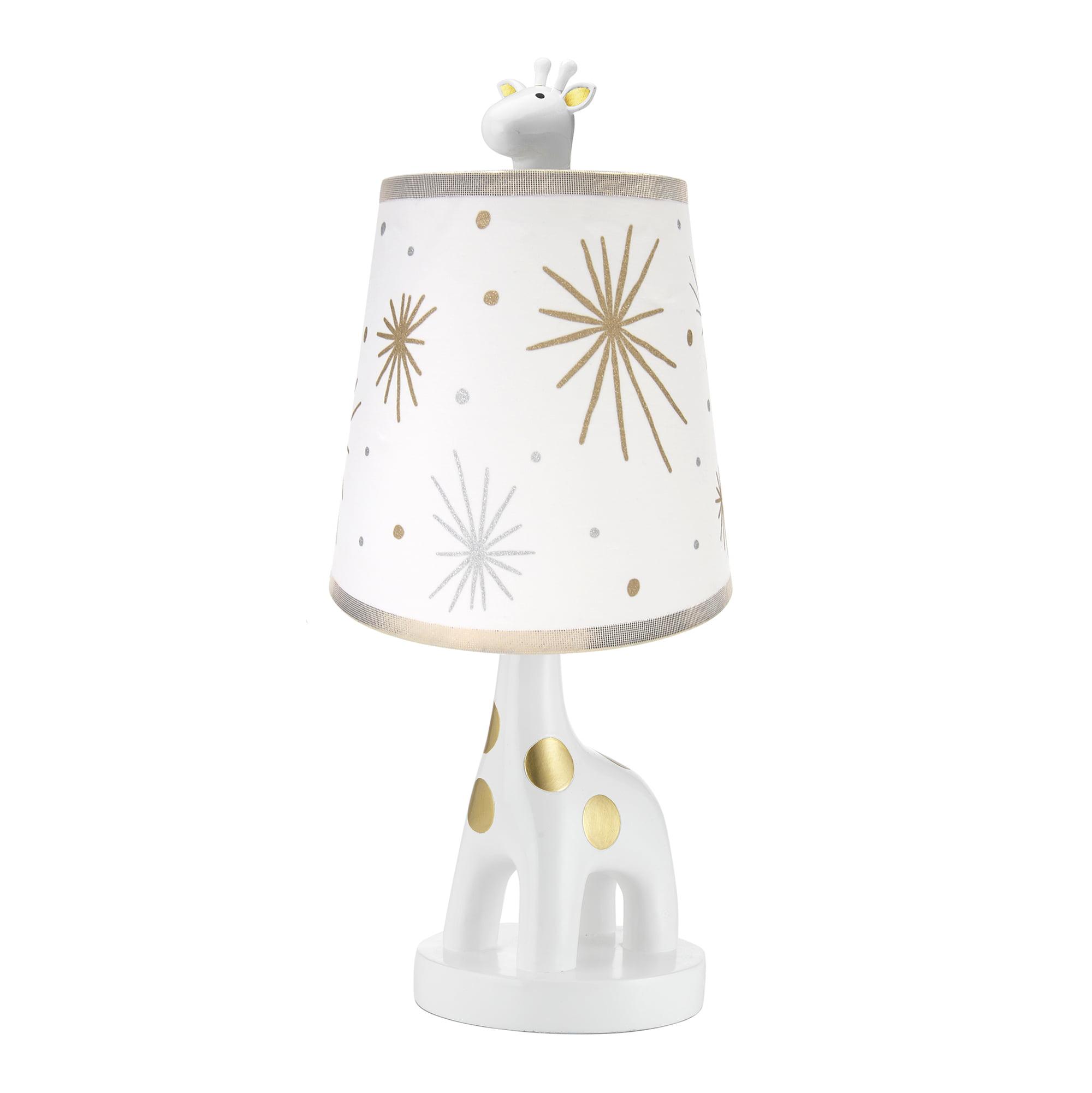 Lambs & Ivy Signature Moonbeams Lamp with Shade & Bulb Gold, White, Animals by Lambs & Ivy