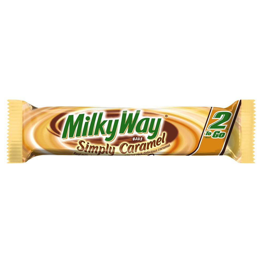 Milky Way, Simply Caramel Milk Chocolate 2-To-Go Candy Bar, 2.84 Ounce