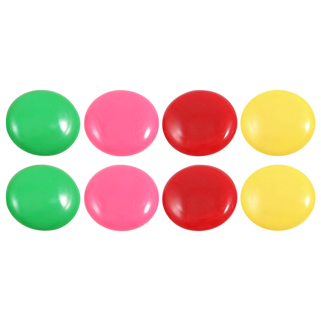 8 Pcs Assorted Colors Plastic White Board Refrigerator Magnets 1.6""