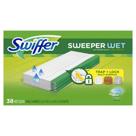 Wet Cloth - Swiffer Sweeper Wet Mopping Cloths, Multi Surface Refills, Open Window Fresh, 38 Count