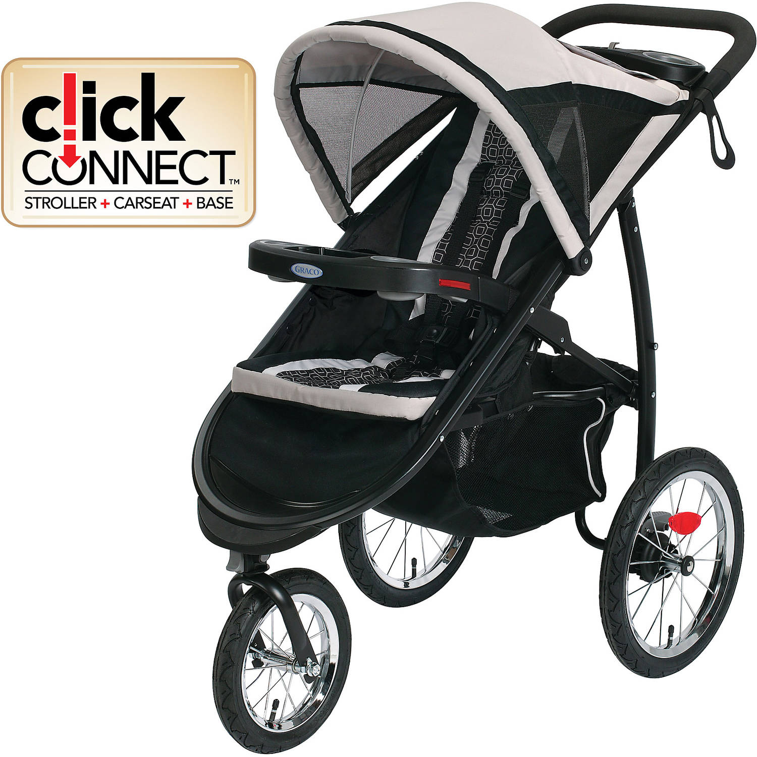 Graco Fastaction Fold Jogger Click Connect Stroller Pierce