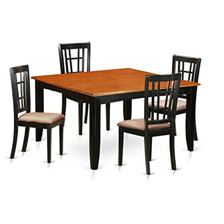 pfni5 bch c 5 pc dining room table set dining table and 4 solid wood dining chairs. Black Bedroom Furniture Sets. Home Design Ideas