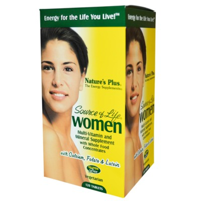 Nature's Plus, Source of Life, Women, Multi-Vitamin and Mineral Supplement, 120 Tablets
