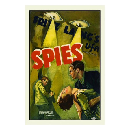Spies Print Wall Art By Fritz Lang