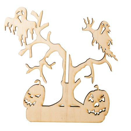 Happy Halloween Tree - Art Kit - RAW Wood 8
