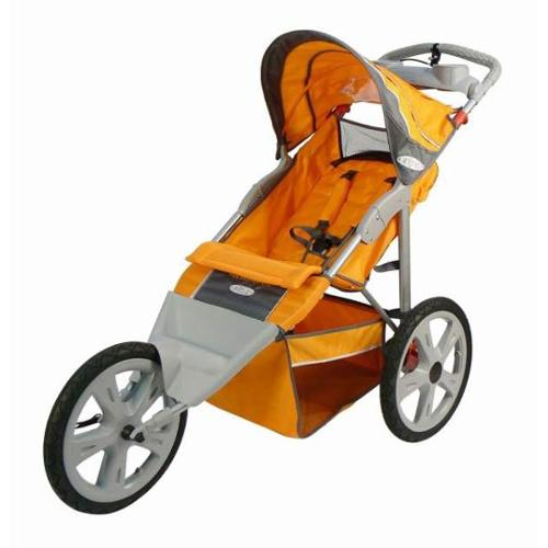 InStep - Flash Fixed Wheel Single Jogging Stroller, Orange