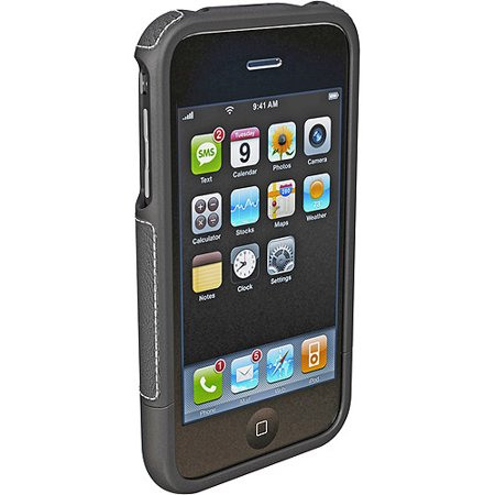 AGF - Lambskin Case for Apple iPhone 3G / 3GS - Black