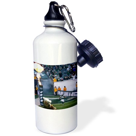 3Drose New York Jets Coming On The Field Before Facing The Chiefs  Sports Water Bottle  21Oz