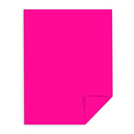 Pink Paper (Hot Pink Fuchsia Paper - 24 lb, 8.5 x 11 Inches, 50)
