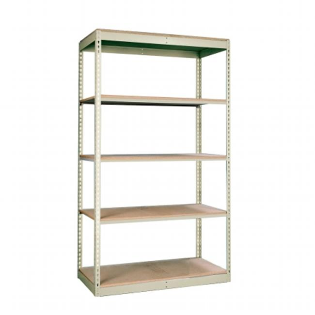 Hallowell SRS361884-8SP Rivetwell, Single Rivet Boltless Shelving 36 in. W x 18 in. D x 84 in. H 729 Parchment 8 Levels