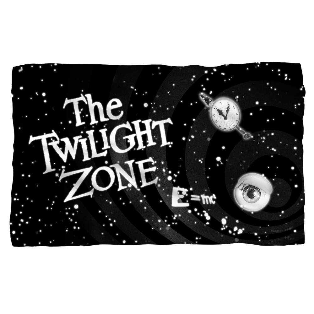 Twilight Zone Another Dimension Fleece Blanket White 48X80