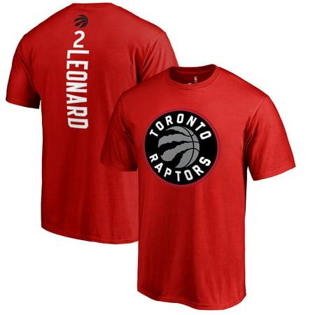 Kawhi Leonard Toronto Raptors Fanatics Branded Backer Name & Number T-Shirt - Red - Halloween Shops Toronto