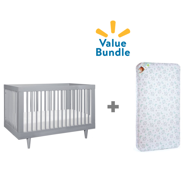 Baby Mod Marley Convertible Crib + Mattress Value Bundle