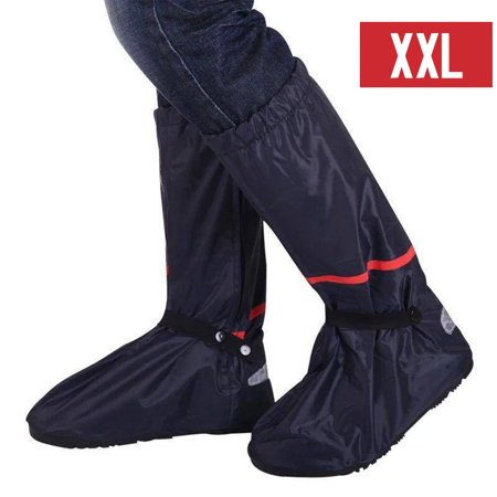 Waterproof Rain Shoes Cover Reusable Snow Boots Cover with Reflector Anti-slip Boots Gear Shoes Cover Women (Best Anti Slip Snow Boots)
