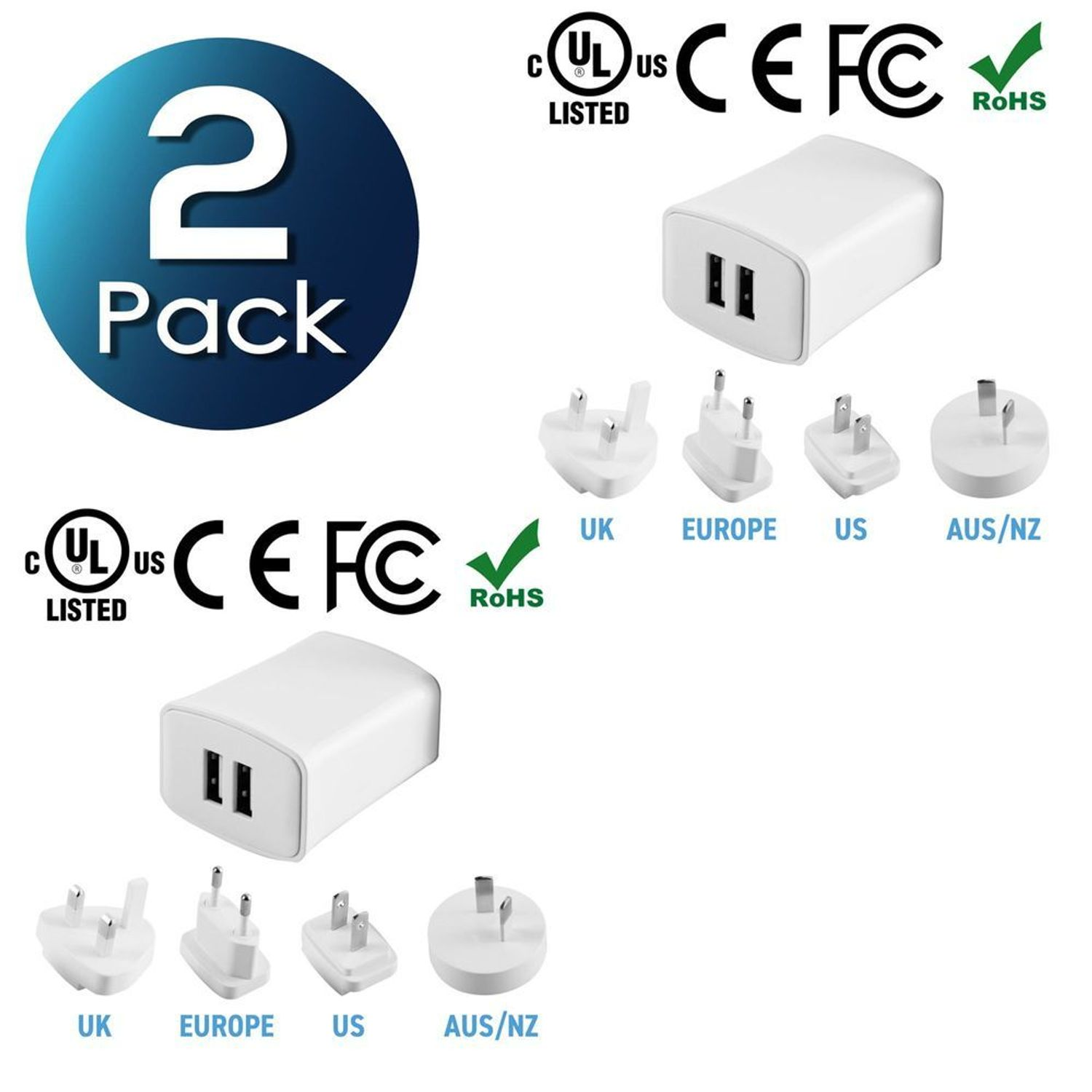 International Power Adapter for UK,EU,AU,US,150 Countries Ultra-Compact Advanced Worldwide Plug Adapter with LED Power Indicator Travel Adapter LezGo All-in-one Universal Adapter 4-Port USB Type C