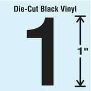 STRANCO INC DBV-1-1-10 Die Cut Number Label, 1, 10 Cards,PK10
