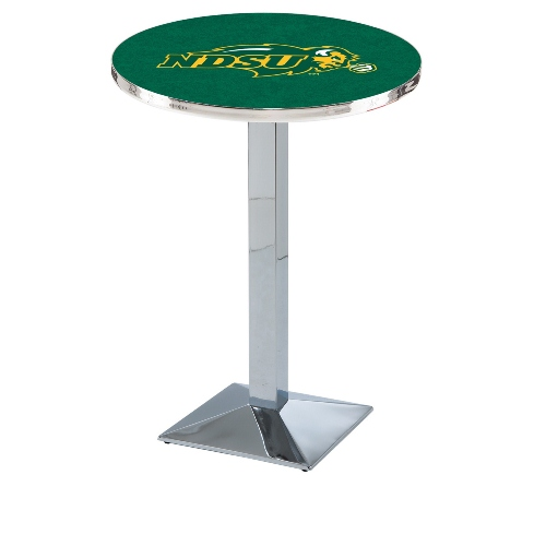 NCAA Pub Table by Holland Bar Stool, Chrome - NDSU Green, 42'' - L217