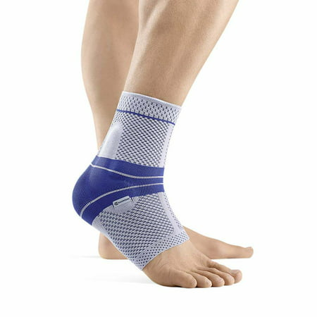 Bauerfeind - MalleoTrain - Ankle Support Brace - Helps Stabilize The Ankle Muscles and Joints for Injury Healing and Pain Relief- Titanium, Left Ankle, Size