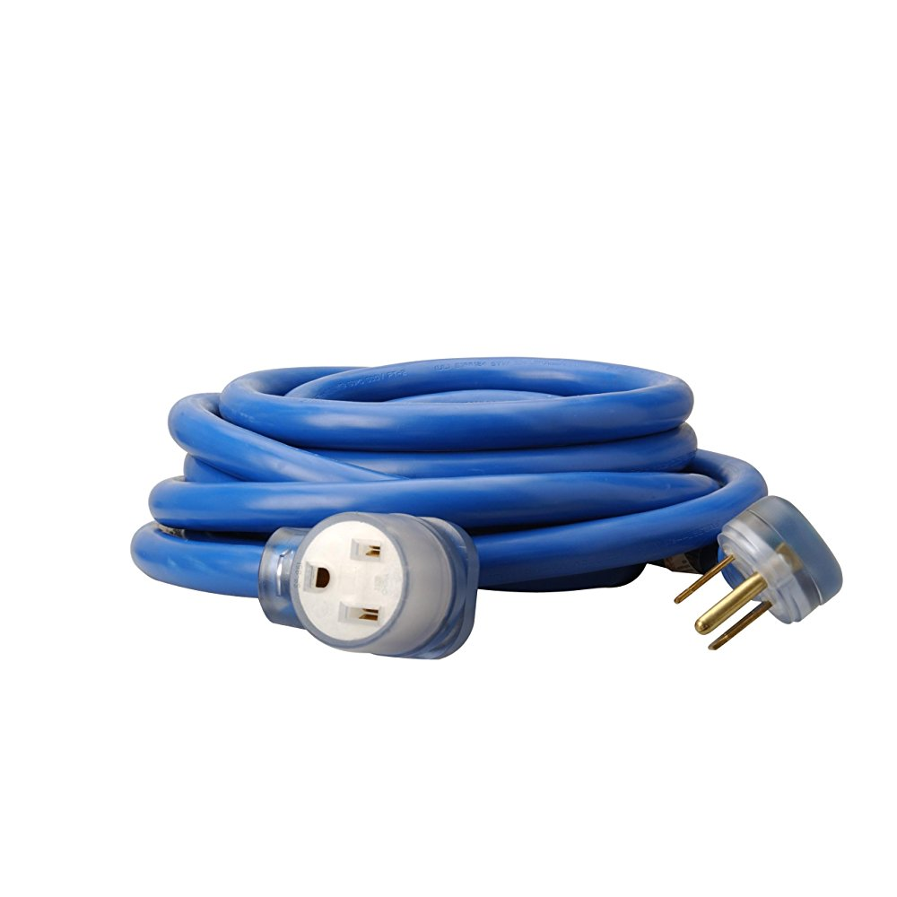 Anchor Coleman CIle 1917 8/3 STW 6-50 Welder Extension Cord, Blue, 25-Foot