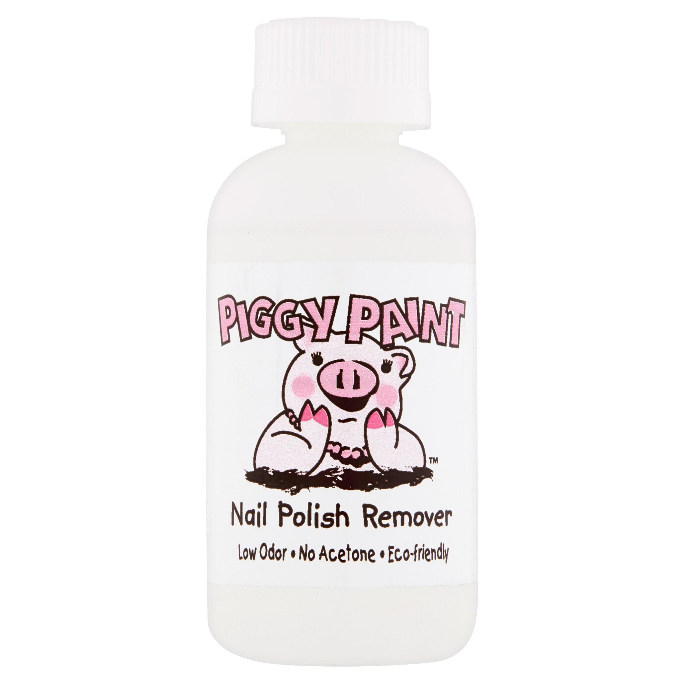 (2 Pack) Piggy Paint Nail Polish Remover, 2 fl oz