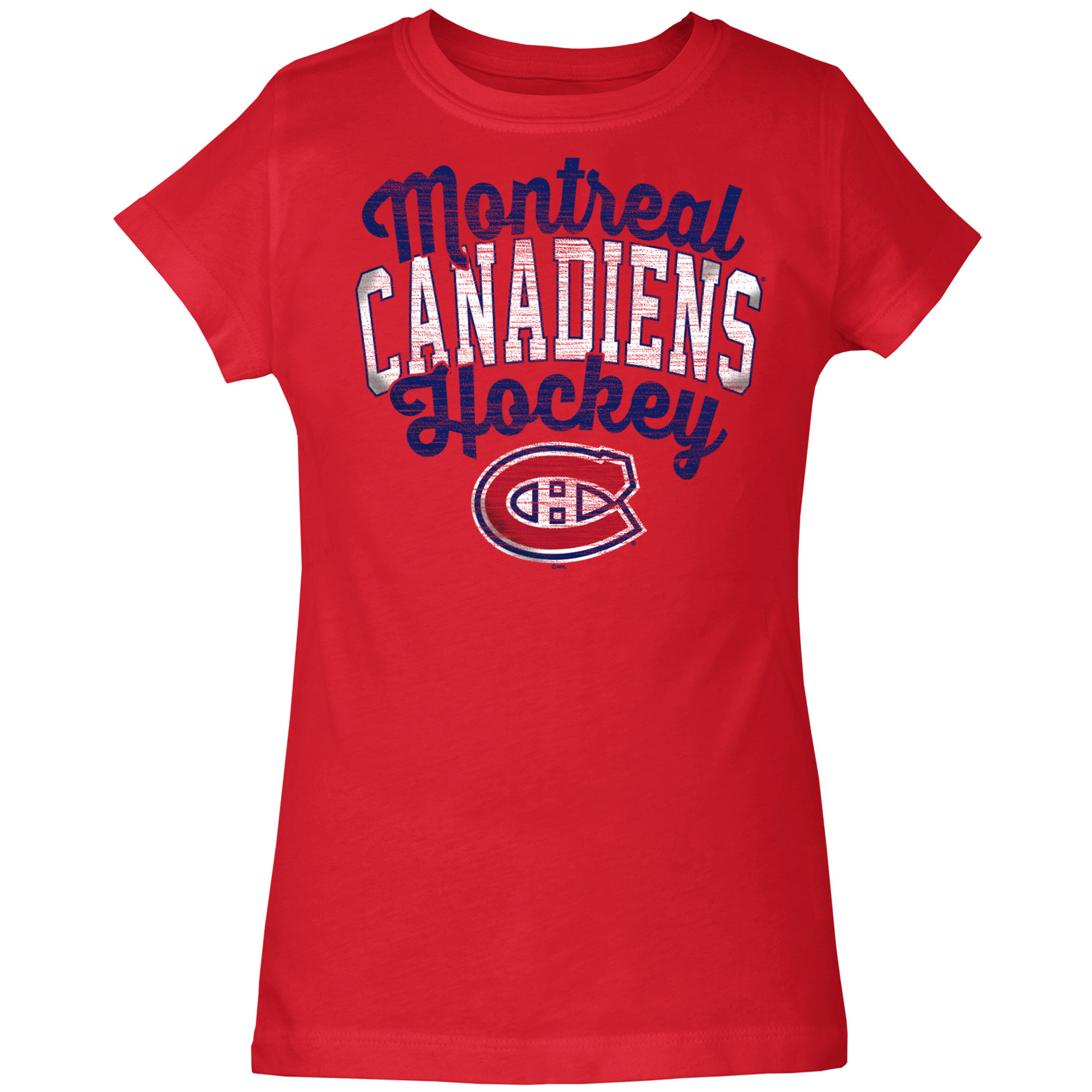 Montreal Canadiens 5th & Ocean by New Era Girls Youth Baby Jersey T-Shirt - Red