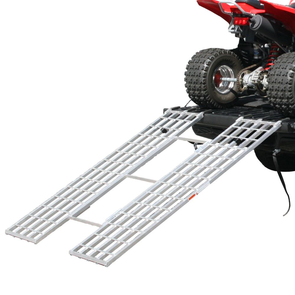 "Black Widow Aluminum Tri-Fold Extra-Wide ATV Loading Ramp - 71"" x 51"""