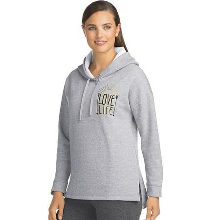 f4ccaa94fb6 Hanes - Hanes Women s Graphic Pullover Hoodie - O4A86 - Walmart.com