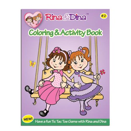 Rina    Dina Coloring   Activity Book  2  52 Pages
