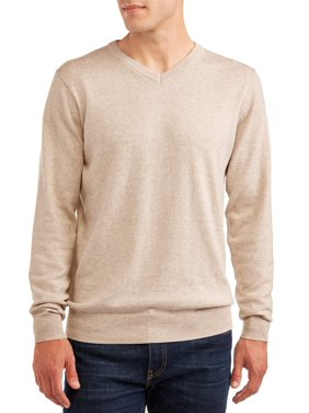 George Men's and Big Men's V-neck Cashmere Sweater, up to Size 3XL