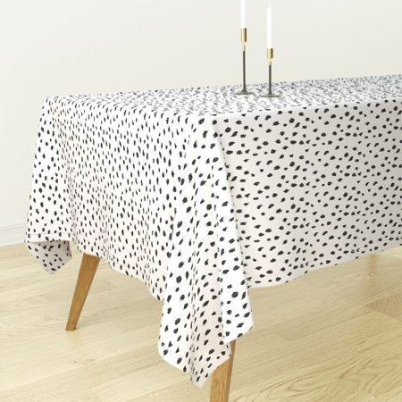 Tablecloth Animal Print Dalmatian Cheetah Leopard Animal Print Cotton Sateen - Leopard Table